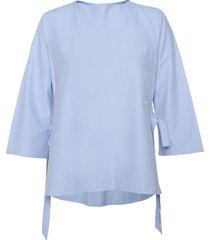camisa carla lazos plain azul celeste varini