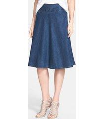 women's nic+zoe 'summer fling' flirt skirt, size 18 (similar to 16w) - blue