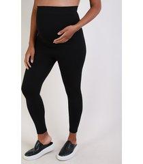calça legging feminina gestante esportiva ace cintura alta anatômica sem costura preta
