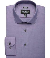 awearness kenneth cole men's purple slim fit dress shirt - size: 16 1/2 36/37