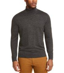 club room men's merino wool blend turtleneck sweater, created for macy's