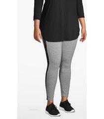 lane bryant women's active 7/8 legging - lace inset 14/16 heather gray