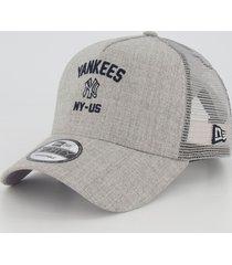 boné new era mlb new york yankees 940 cinza mescla
