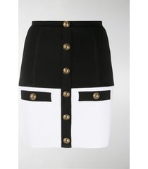 balmain two-tone mini skirt