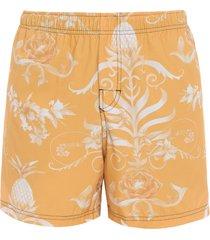 short masculino beach arabesco small - amarelo