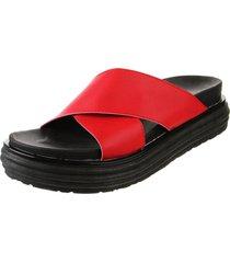 sandalia roja  somos prana cruzadas