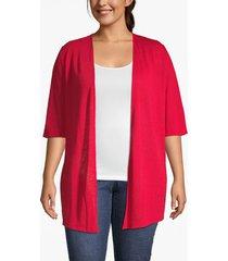 lane bryant women's crochet overlay cardigan 26/28 ribbon red