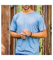 men's cotton founder's t-shirt, 'blue kuta breeze' (indonesia)
