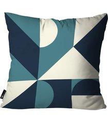 almofada abstrato mdecore azul 35x35