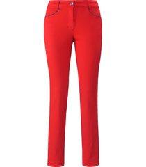 jeans model julienne in slank silhouet van basler rood