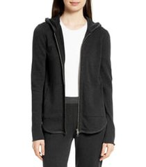 women's atm anthony thomas melillo front zip hoodie, size x-small - black (nordstrom exclusive)