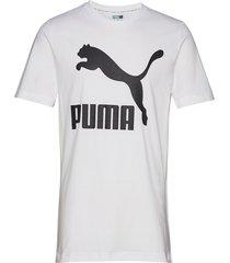 classics logo tee t-shirts short-sleeved vit puma