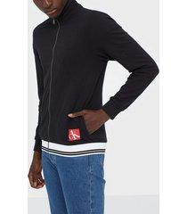 calvin klein underwear full zip sweatshirt tröjor svart