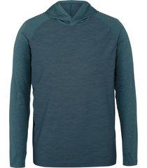 wolverine men's sun-stop pullover hoody blue camo, size xxl