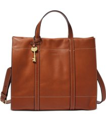 fossil carmen leather shopper