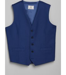jos. a. bank men's 1905 navy collection tailored fit suit separates vest - big & tall clearance, bright blue, 52 x long