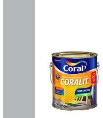 esmalte sintético a base de água brilhante coralit platina 3,6l - coral - coral