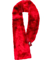 chalayan faux fur scarf - red