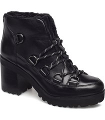 zana biker boot shoes boots ankle boots ankle boots with heel svart steve madden