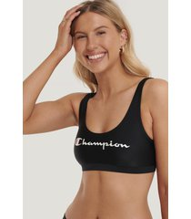 champion logo bikini top - black
