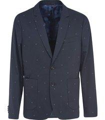 paul smith motif detail single-breasted blazer