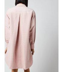 see by chloé women's garment dyed cotton midi dress - cameo rose - eu 40/uk 12