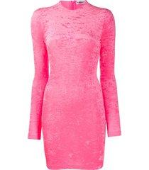 balenciaga long-sleeved cycling mini dress - pink
