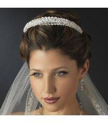 double layer swarovski crystal & rhinestone wedding bridal tiara