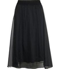 coralsz skirt knälång kjol svart saint tropez