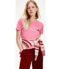 polera classics algodón orgánico rosado tommy jeans