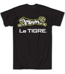 le tigre men's reflective logo tee