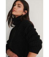 rut&circle tinelle-tröja med rullkrage - black