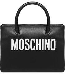 moschino logo leather mini shopper-belt bag