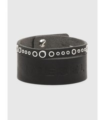 pulsera a bay bracelet negro diesel