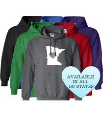 minnesota hoodie sweatshirt love home heart unisex men women state