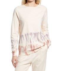 women's c & c california jeanie raglan sleeve sweatshirt, size small - pink