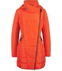 giacca con cappuccio e collo grande (arancione) - bpc bonprix collection
