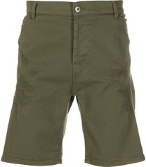 dondup cotton bermuda shorts - green