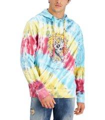 ed hardy men's modern-fit tie-dyed skull-print hoodie