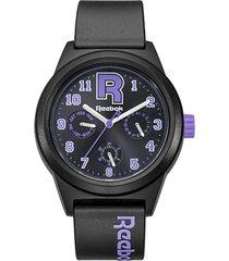 reloj classic r varsity multi negro reebok