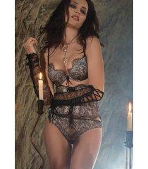 ambra lingerie jarretels corselet zwart