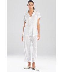 natori animal bliss notch sleepwear pajamas & loungewear, women's, cotton, size l natori