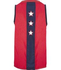 tommy hilfiger heren tanktop logo jersey - blauw/rood