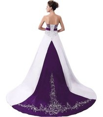 ball gown purple and white wedding dresses,wedding gown,bridal dress,bridal gown