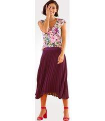 plisserad kjol mona fuchsia