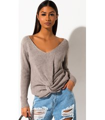 akira pretty girl rock front knot sweater