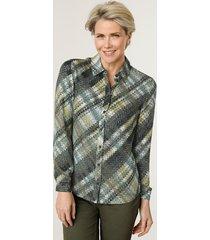 blouse mona olijf::limoengroen