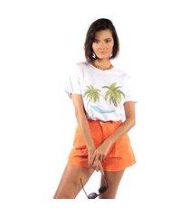 camiseta feminina mirat coconuts branco