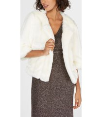 calvin klein faux-fur shrug