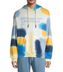 eleven paris men's tie-dye oversized hoodie - kentucky - size m